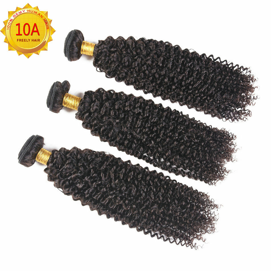 "12""12""12"" inch Kinky Wave Unprocessed Virgin Human Hair 3 Bu"