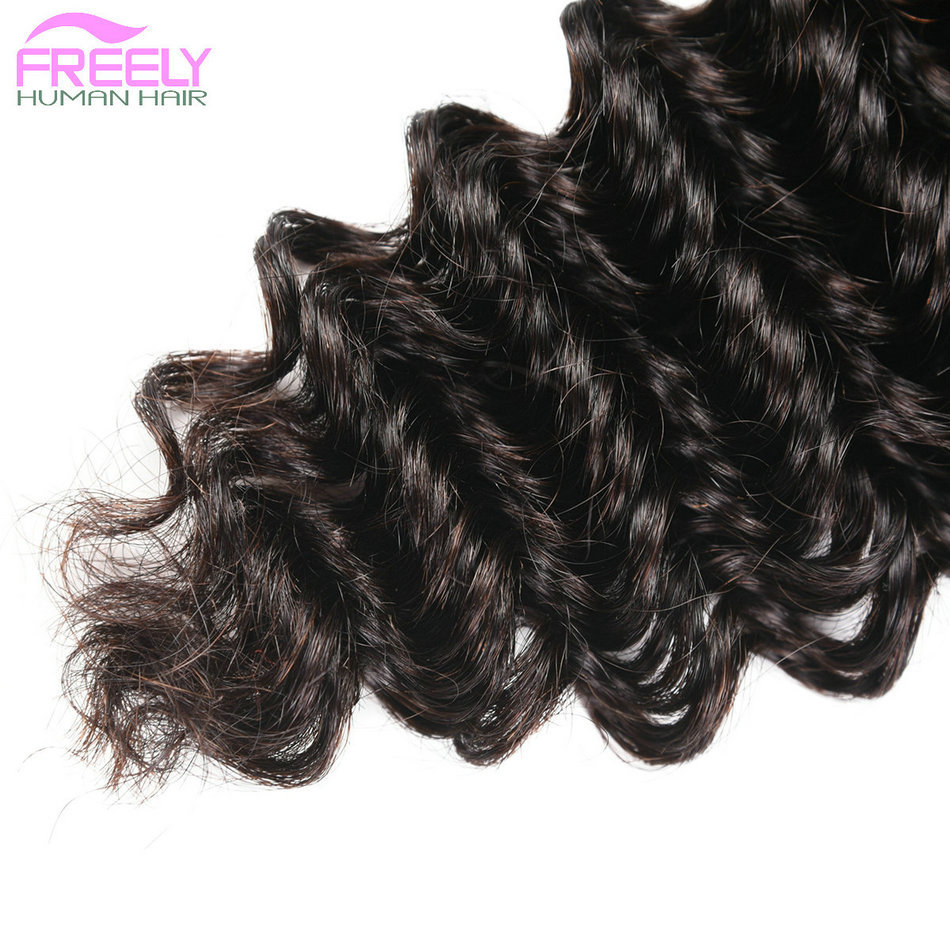 "22""22""22"" Deep Wave Unprocessed Virgin Human Hair 3 Bundles"