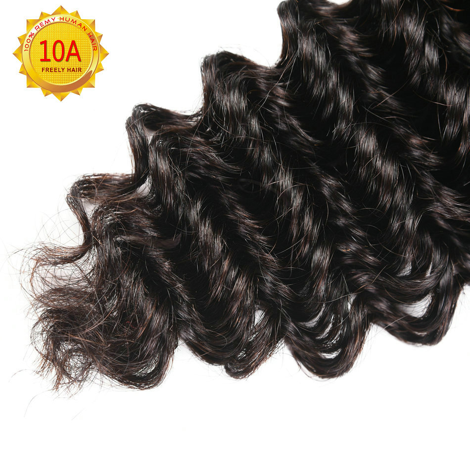 "14""14""14""  Deep Wave Unprocessed Virgin Human Hair 3 Bundles"