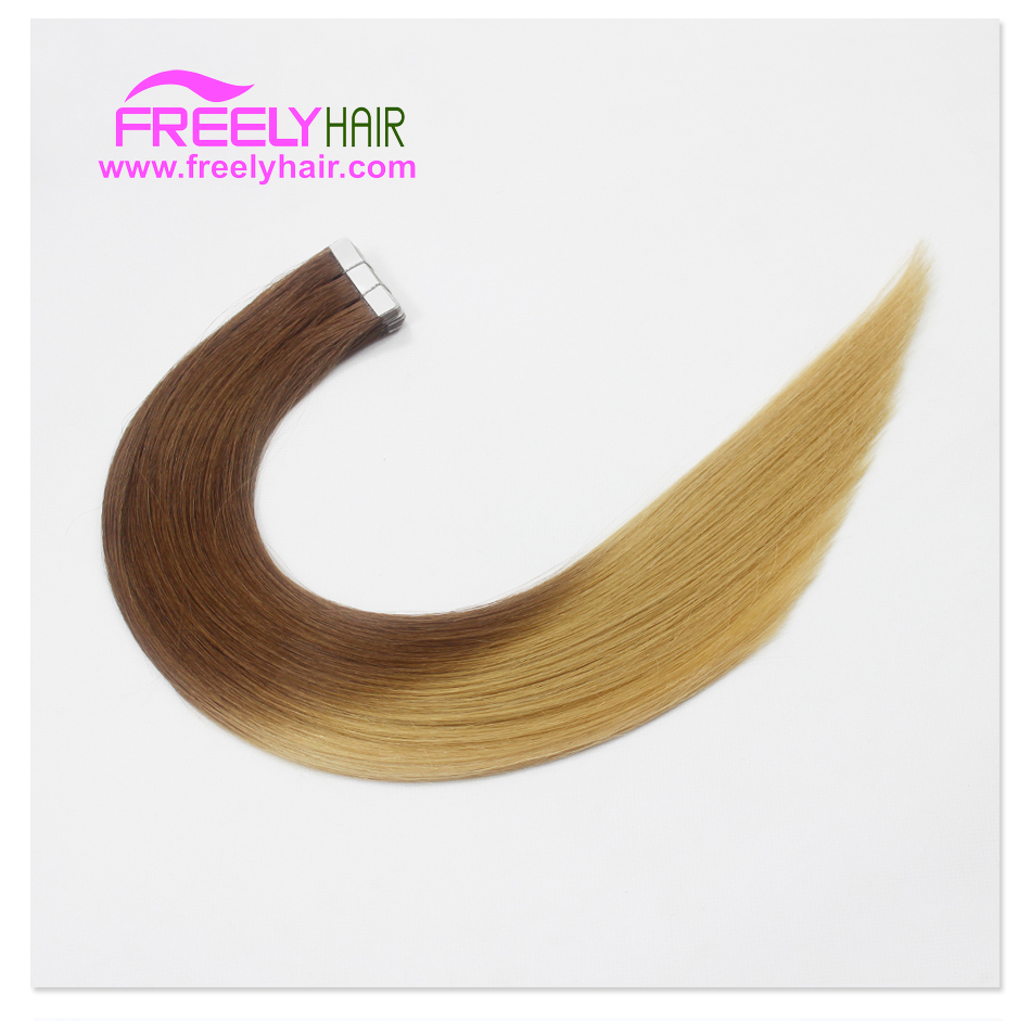 "20"" Remy Tape in Hair Extension T4/27 Ombre Color 2g/piece 2"