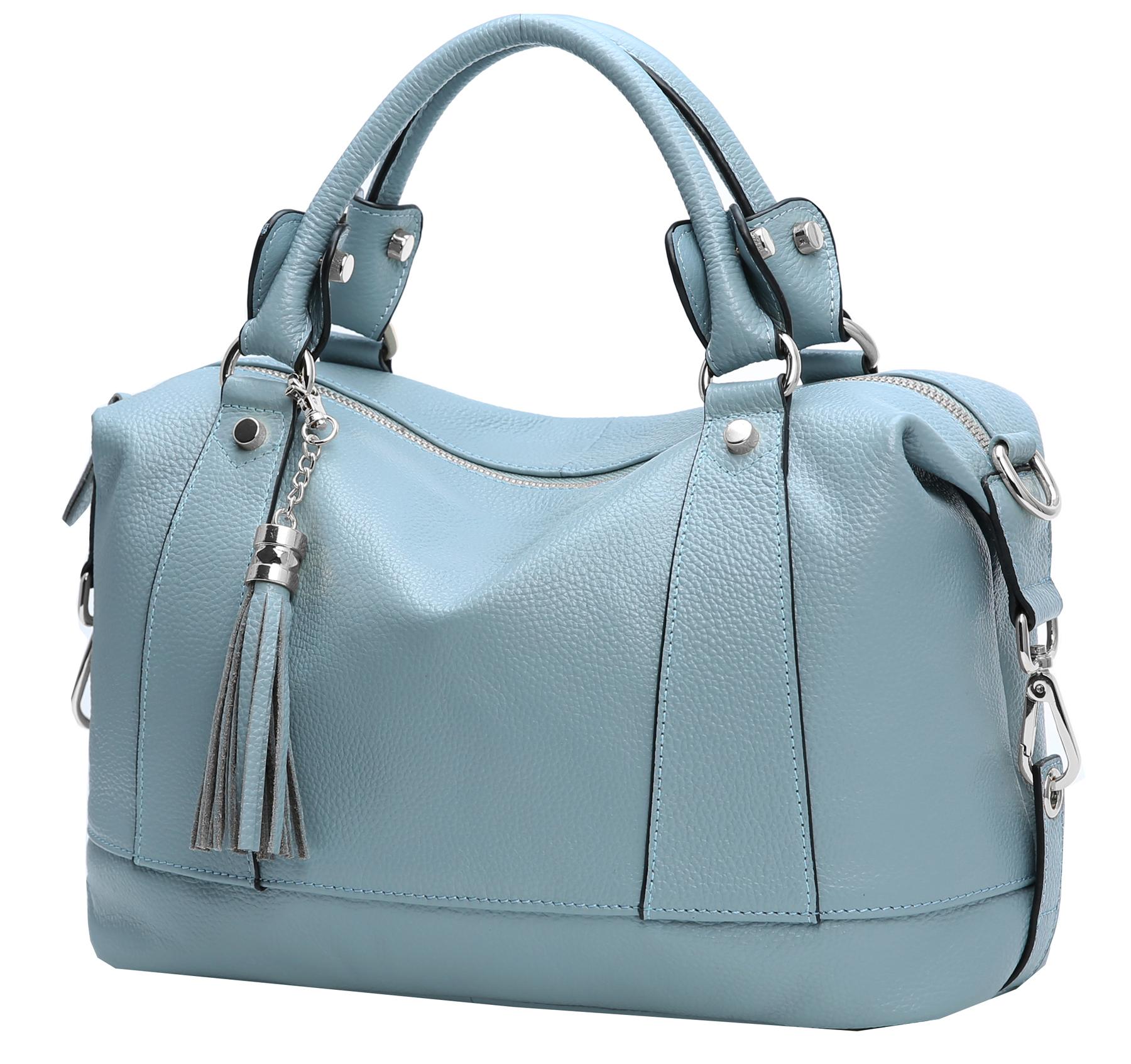 edc22cd538 Heshe Leather Shoulder Bag Womens Tote Top Handle Handbags Cross ...