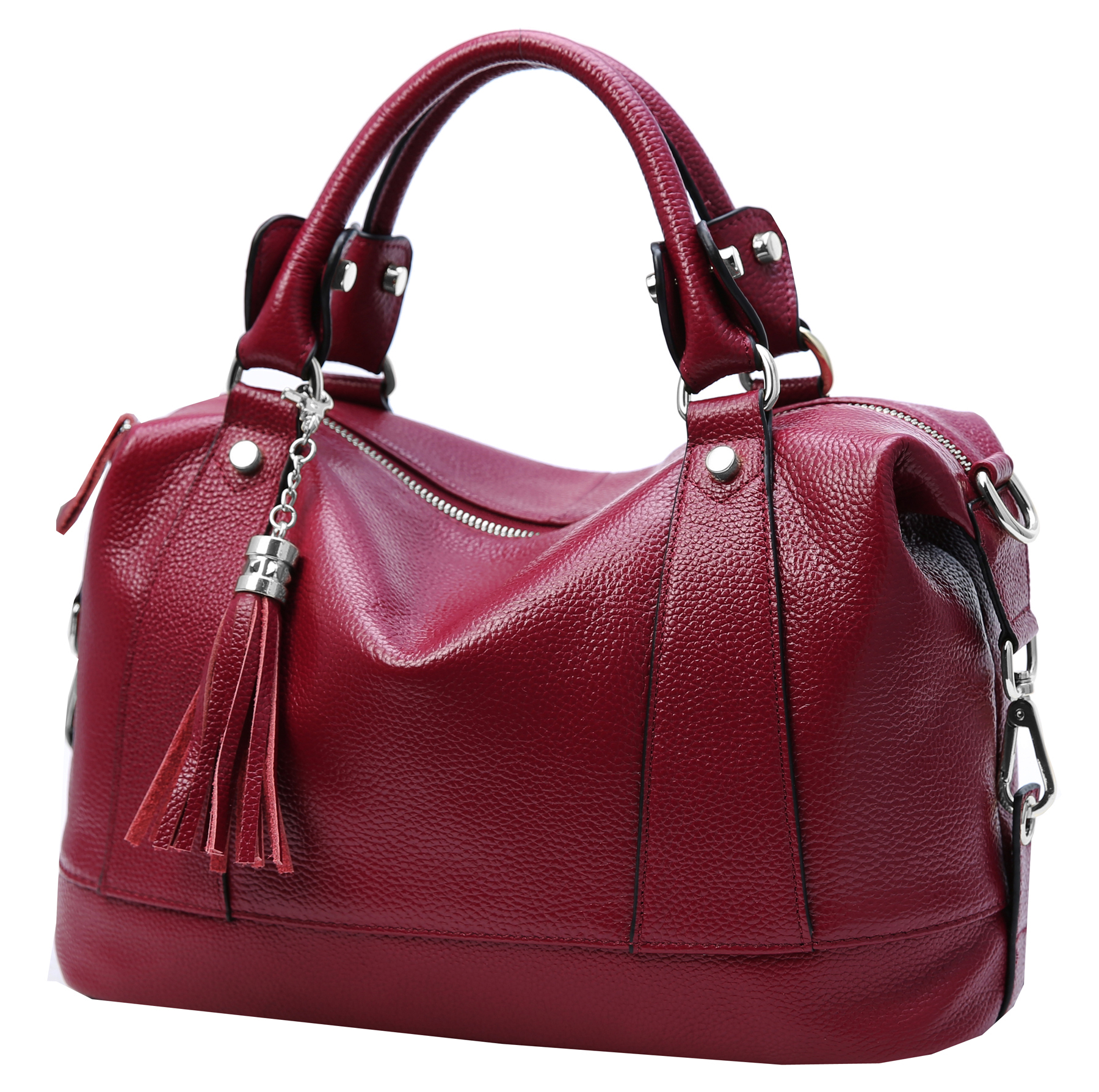 9a576f548a3 Heshe Leather Shoulder Bag Womens Tote Top Handle Handbags Cross ...
