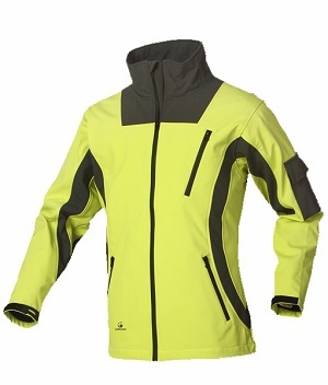 Hi-vis yellow protective safety workwear softshell jacket