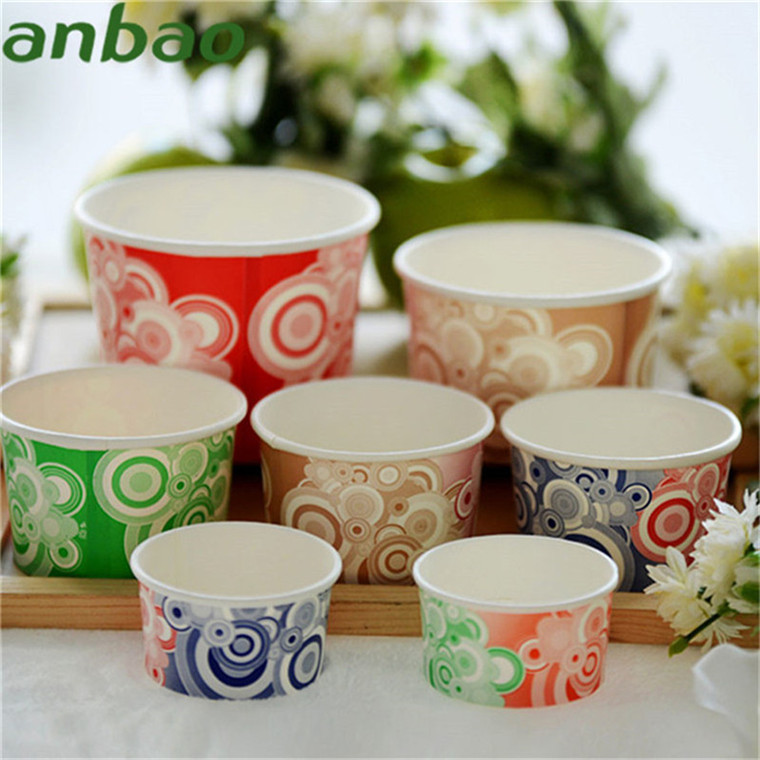 cheap wholesale 8oz paper ice cream bowls