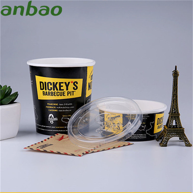 Wholesale custom recycled disposable paper ice cream cup wit