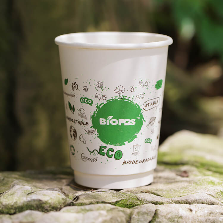 White Paper Cup /Logo Coffee Cup With Custom Design