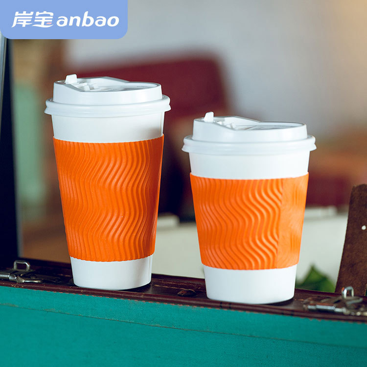 12 oz disposable ripple wall coffee cup for vending