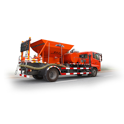 All In One Pothole Patcher Spewing Truck