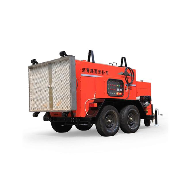 asphalt hot box reclaimer for heating the asphalt to repair