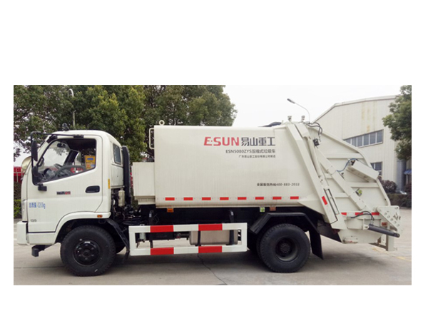 compression type garbage truck