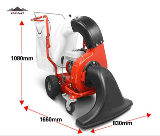 Gasoline vacuum sweeper for leaves