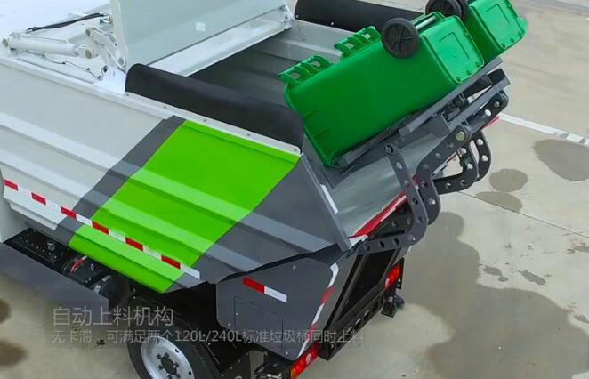 Electric garbage truck for Waste Collection Rear loading
