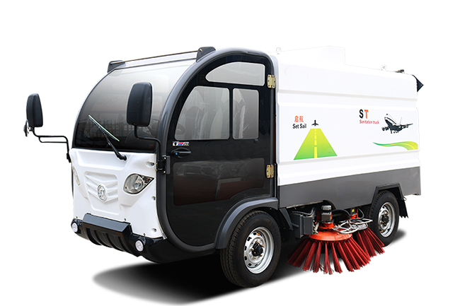Electric sweeper and washing truck