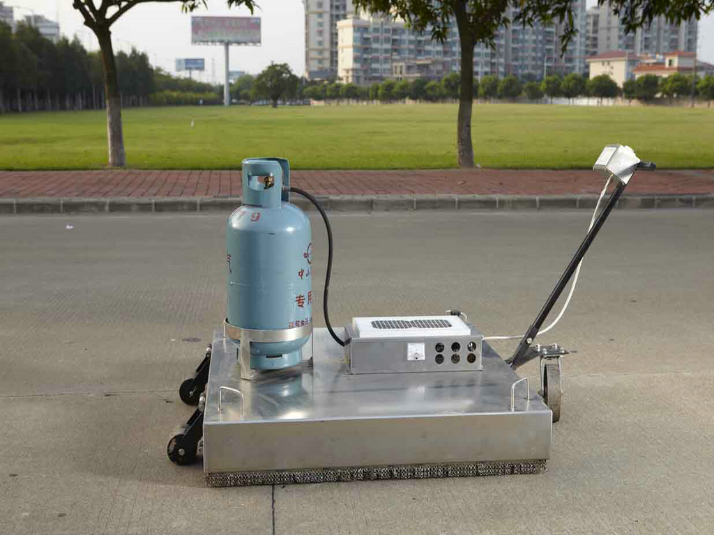 gas infrared Hand push asphalt heater to repair the pavement
