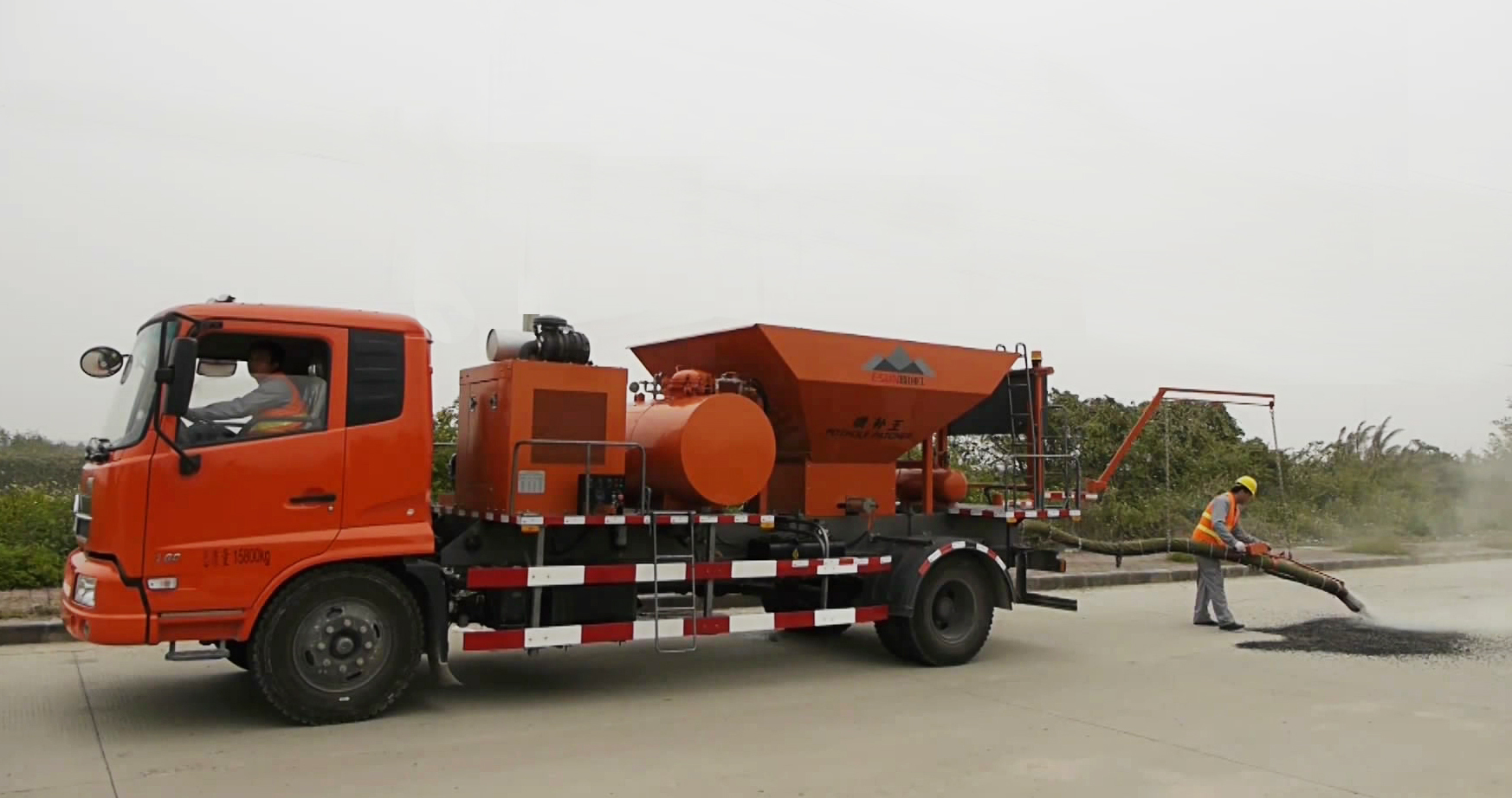 ESUN All In One Pothole jetpatcher Spewing Truck