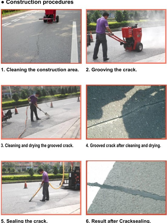 Asphalt crack sealer for pothole repair