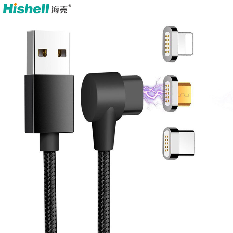 90 Degree Angel Data Transfer And Charging Magnetic USB Cabl