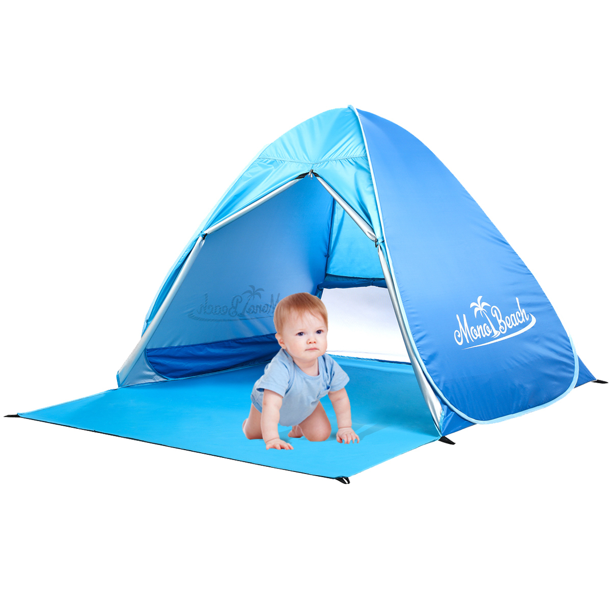 ... MonoBeach Baby Beach Tent Automatic Pop Up Cabana Sun Shelte ...  sc 1 st  Monobeach : small pop up beach tent - memphite.com
