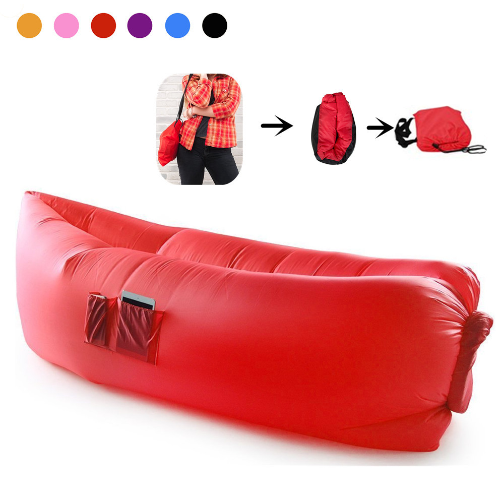 Monobeach Air Lounger Sofa with Carry Bag (Red)