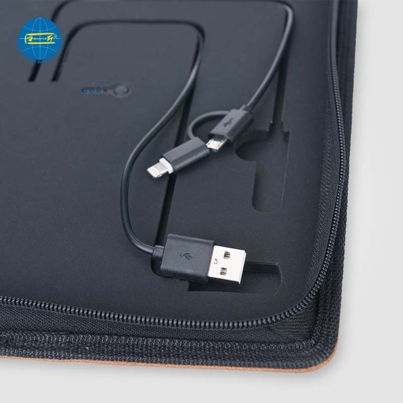 A5 Power Bank Portfolio For Phone Holder With zipper    MK-0