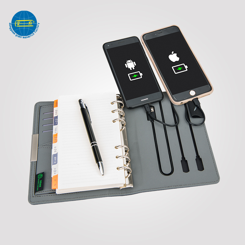 Diary With Power Bank / Notebook