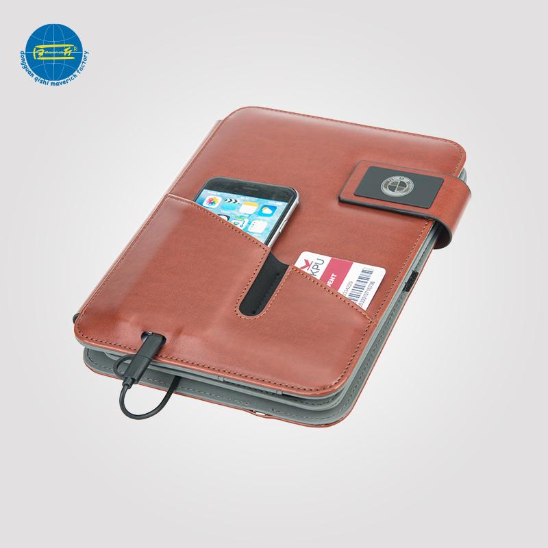 Power Bank Tablet Portfolio With USB