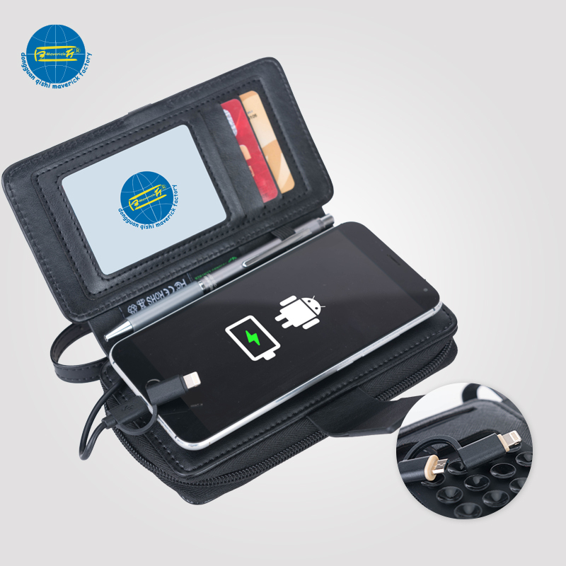 Power Bank Wallet / Phone Holder With Charge and USB