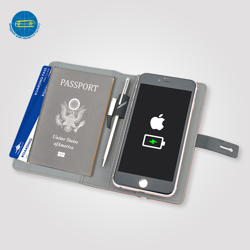 Latest wireless charging Passport Holder