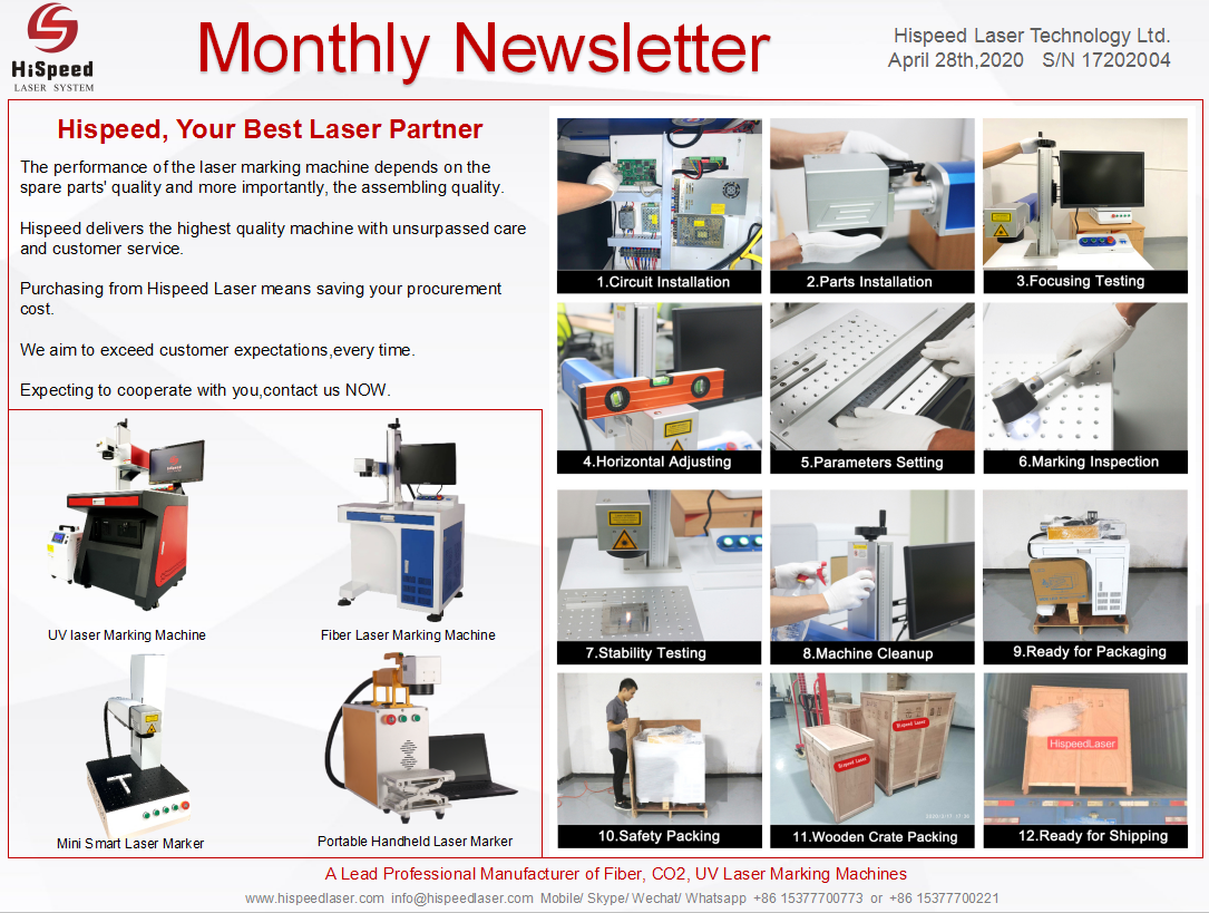 Monthly Newsletter- April.Thank you for your attention!