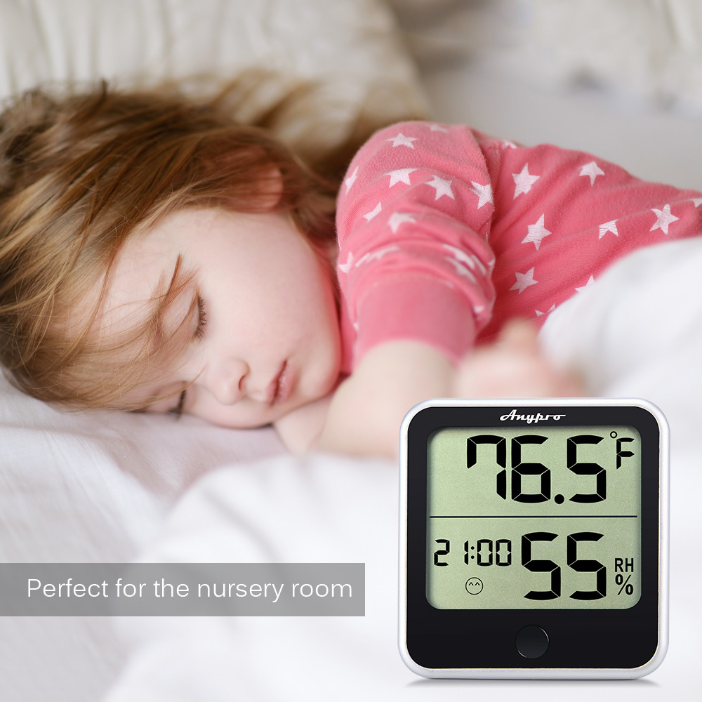 Anypro Hygrometer-Thermometer 2-in-1 mit Temperaturanzeige,