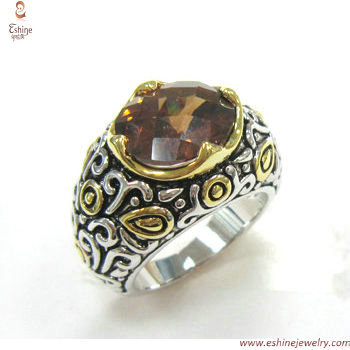 RI3438 - Indonesia flower style garnett Oval cut Cubic Zirco