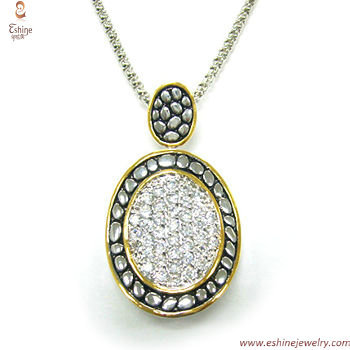 PE3116 - Wholesale bali cobble designs pendant made of sterl