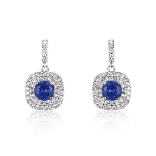 ST2236E - Classic diamond imitation dangling earring with ro