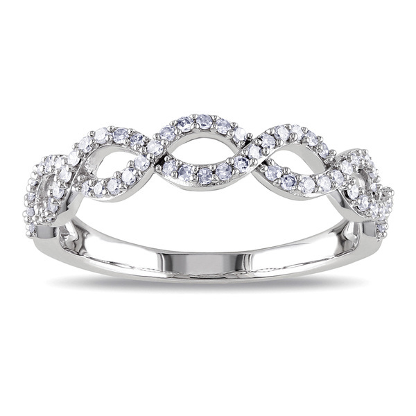SR0017 - cyclic Infinite love classic diamond engagement rin