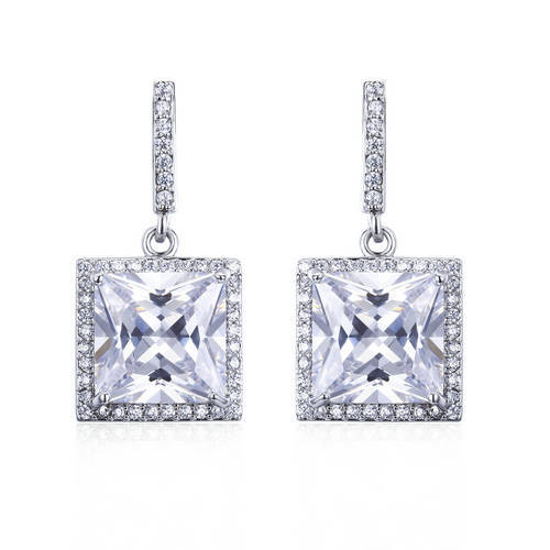 ER3442 - diamond simulated christmas gifts sterling silver d