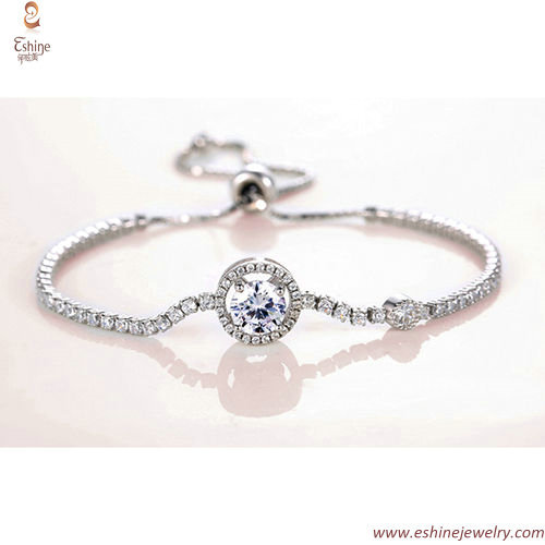 SB0125 - Adjustable size soft round cup chain bracelet with