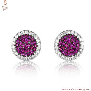 ST2201E - Elegant multi-color style Sapphire stud earring wi