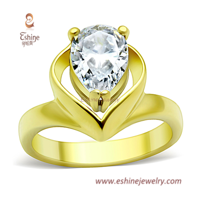 Bridal wedding ring - wedding dress inspired finger rings wi