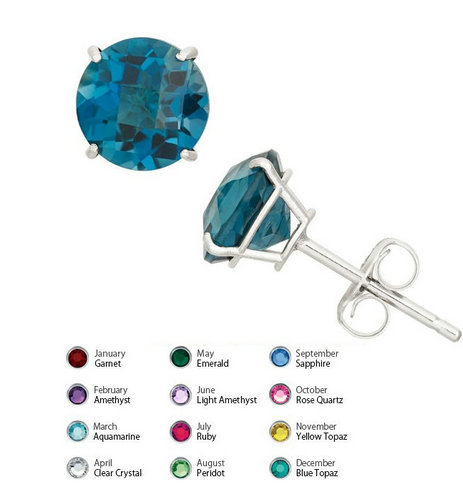 SB10 - 925 silver round CZ stud earring with custom made per