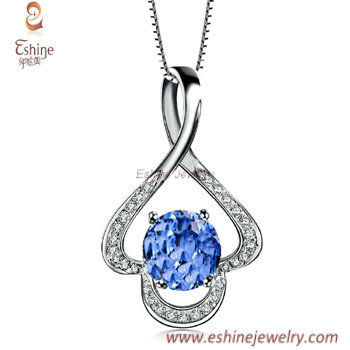 CZ Stones necklace collections - Fancy shapes sapphire CZ cl