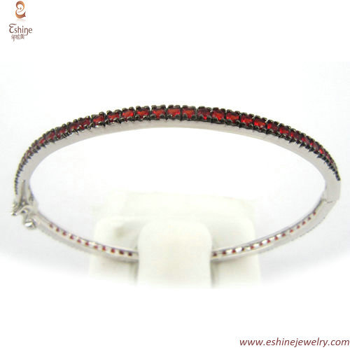 BR2226 - Silver stackable tiny line Bangle bands with wax se