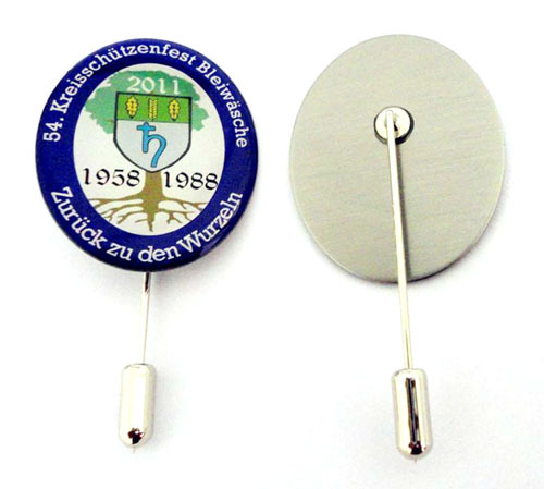 Orgnization badge Lapel pin - corporate recognition with cle