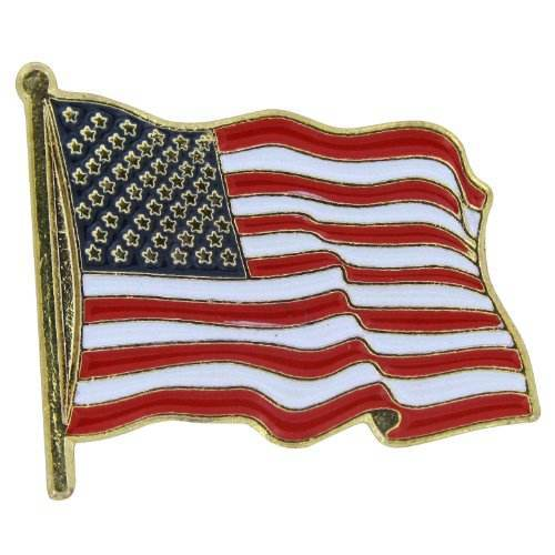 USA Flag Lapel pin - custom Corporate recognition with high