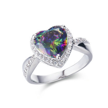 ST2200 - hottest  mystic heart jewelry sets with finger ring