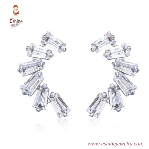 ER3449 - Bagutter settings platitum earring by china jewelry