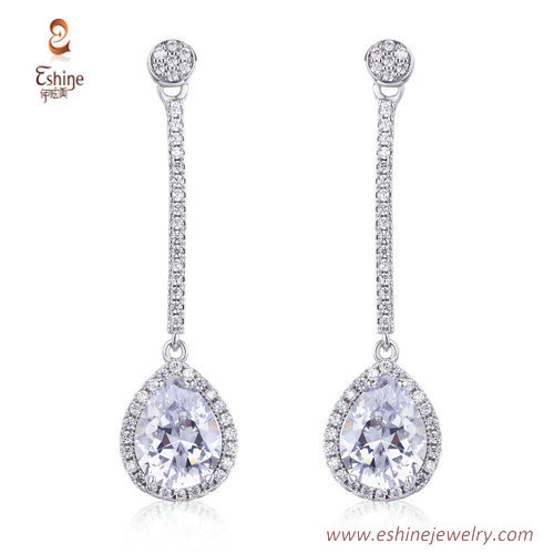 ER3472 - PEAR DIAMOND Dangling earring by china factory