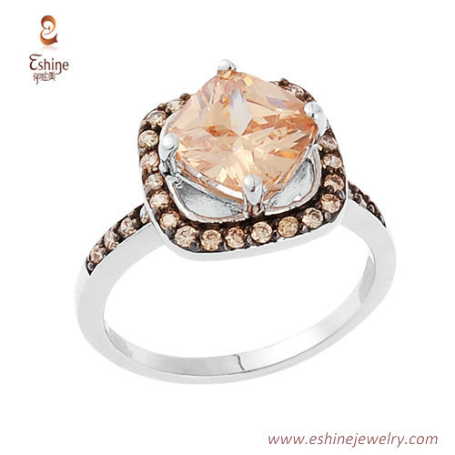 RI4196 - Cushion Champagen ring