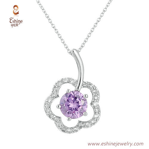 ST1705 - round amethyst CZ jewelry set from China jewelry ma