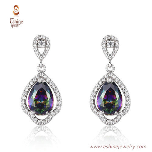 ST2064 - Pear mystic CZ jewelry set from China jewelry whole