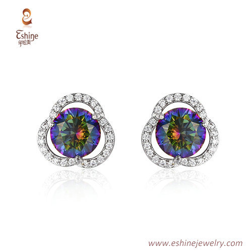 ST2065 - Round mystic CZ jewelry set from China jewelry whol